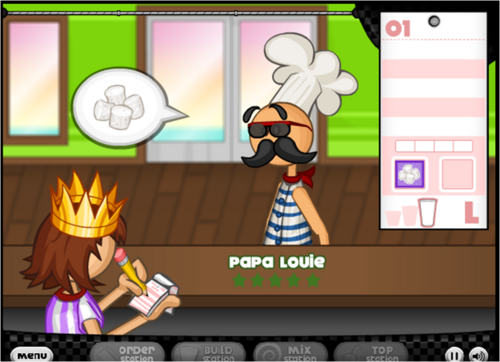 papa luigi pizza game