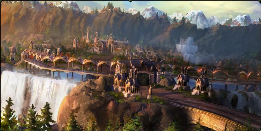Lord Of The Rings Elvish City