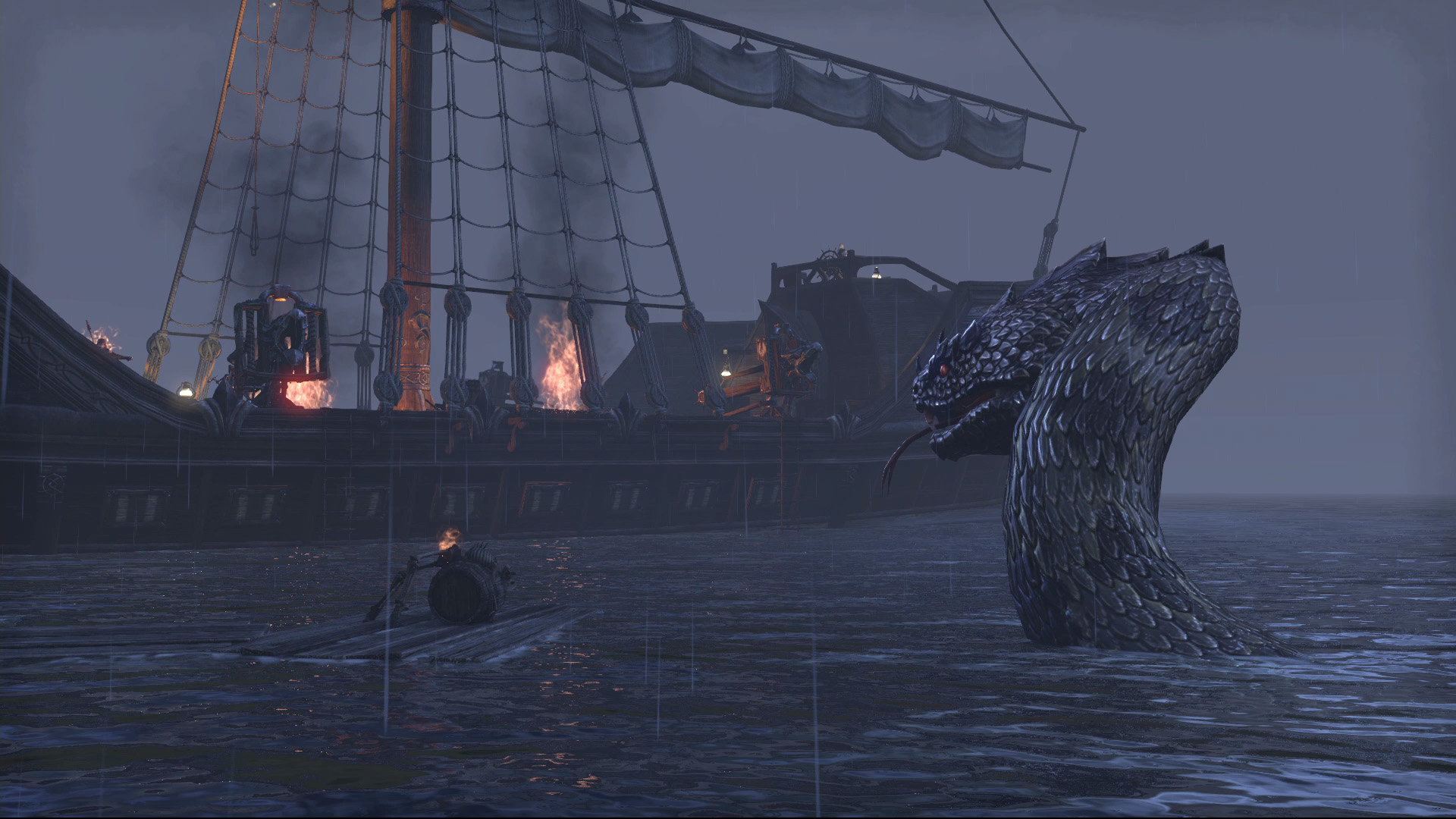 Sea Serpent - T... Giant Sea Monster Skyrim