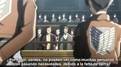 Shingeki No Kyojin Capitulo 14 - Aun No Puedo Mirar Esos Ojos