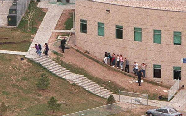 Columbine Shooting Victims Bodies Columbine staircase body