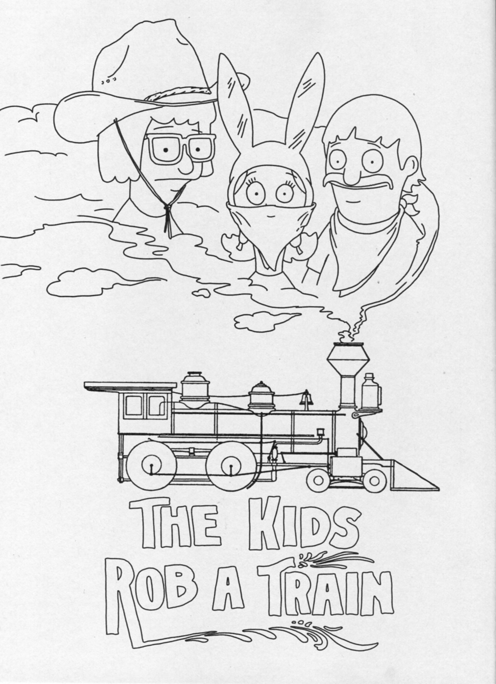 bobs burger coloring pages - photo#13