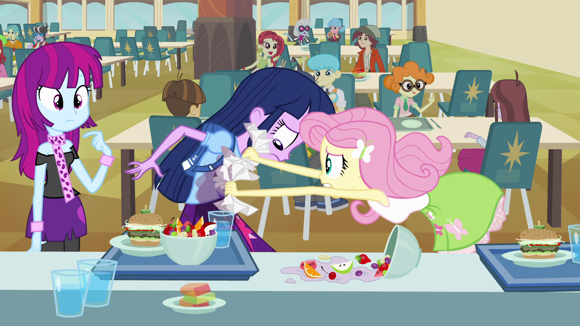 Image Fluttershy Cleaning Twilight S Shirt Eg Png My