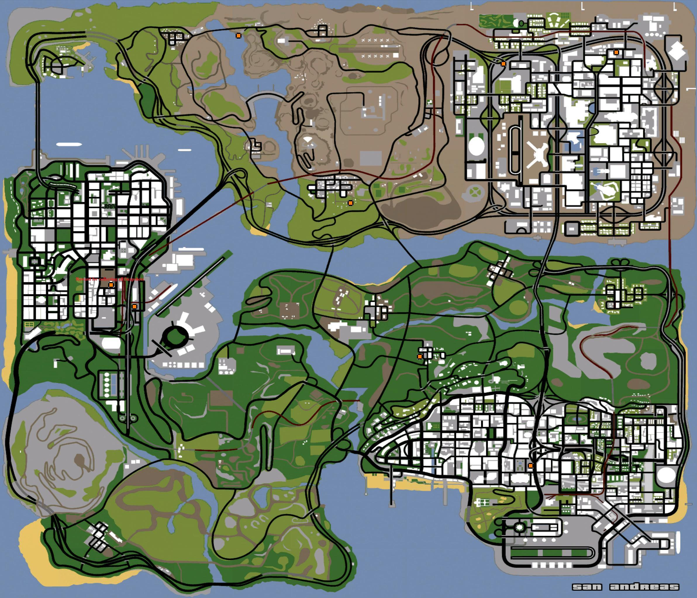 Pumpactionshotgun Locationsmap Gtasa