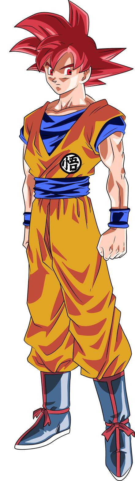 Super saiyan god goku clear - Sangoku super saiyan god ...