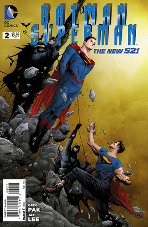 Cover for Batman/Superman #2 (2013)