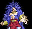 Goku Lucha con Broly Super Saiyajin Legendario 7