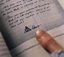 Lettre d'Albus Dumbledore à Gellert Grindelwald