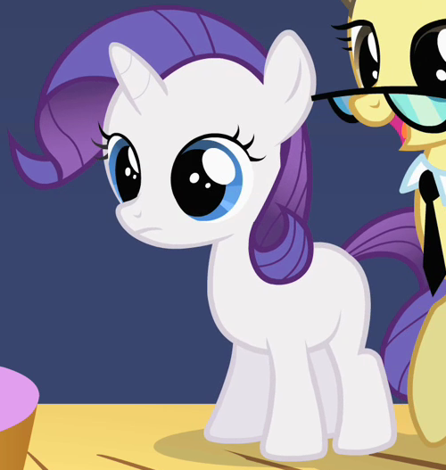 Rarity as a filly in The Cutie Mark Chronicles