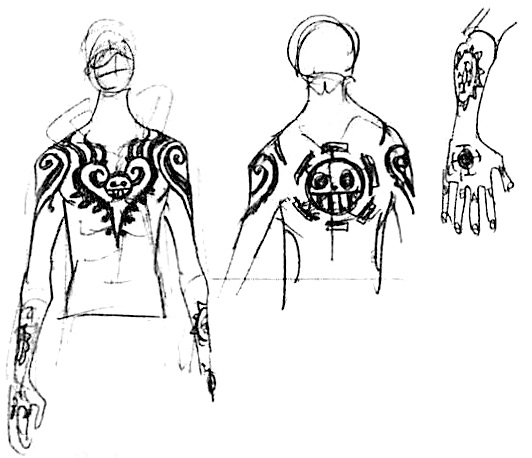 Sbs71 3 law tattoos for Trafalgar law tattoos