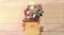 Zenkichi sets up a shogi board.png