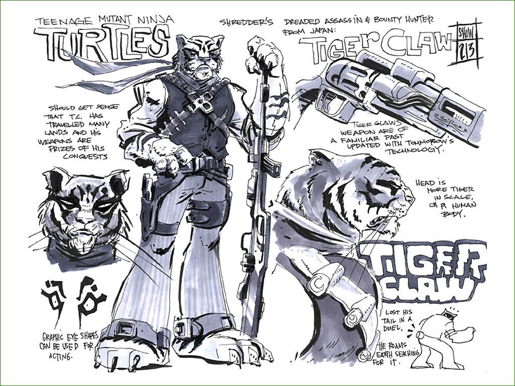tiger ninja turtles coloring pages - photo#23