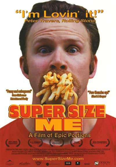 the issue of obesity in supersize me a film by morgan spurlock From 2004: 'super size me' share tweet  email when filmmaker morgan spurlock heard about a lawsuit that two overweight new york teenagers had brought against mcdonald's, blaming the restaurant.