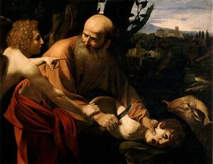 Kurban Sacrifice of Isaac-Caravaggio (Uffizi)