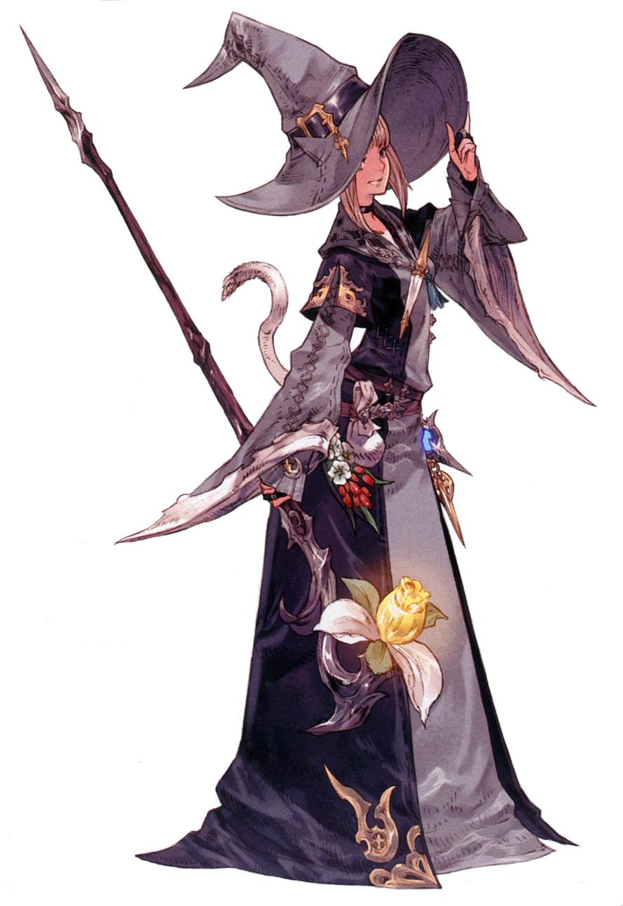 Conjurer Class Artwork ARR Final Fantasy 14 Classes Art