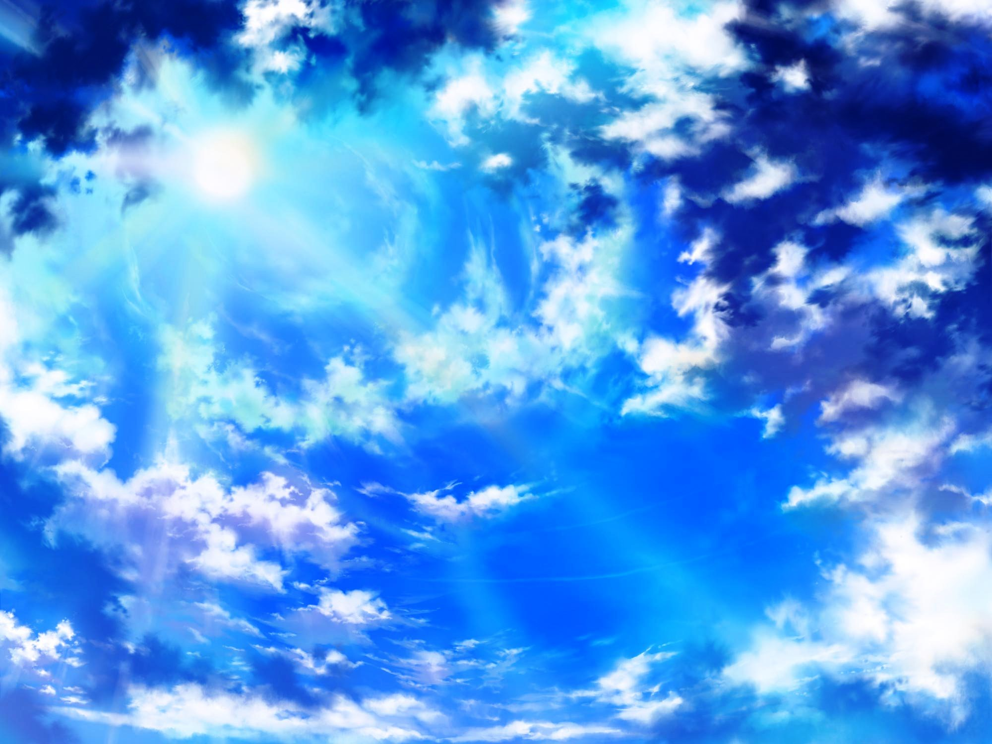Anime Style Sky Background By Wbd On DeviantArt