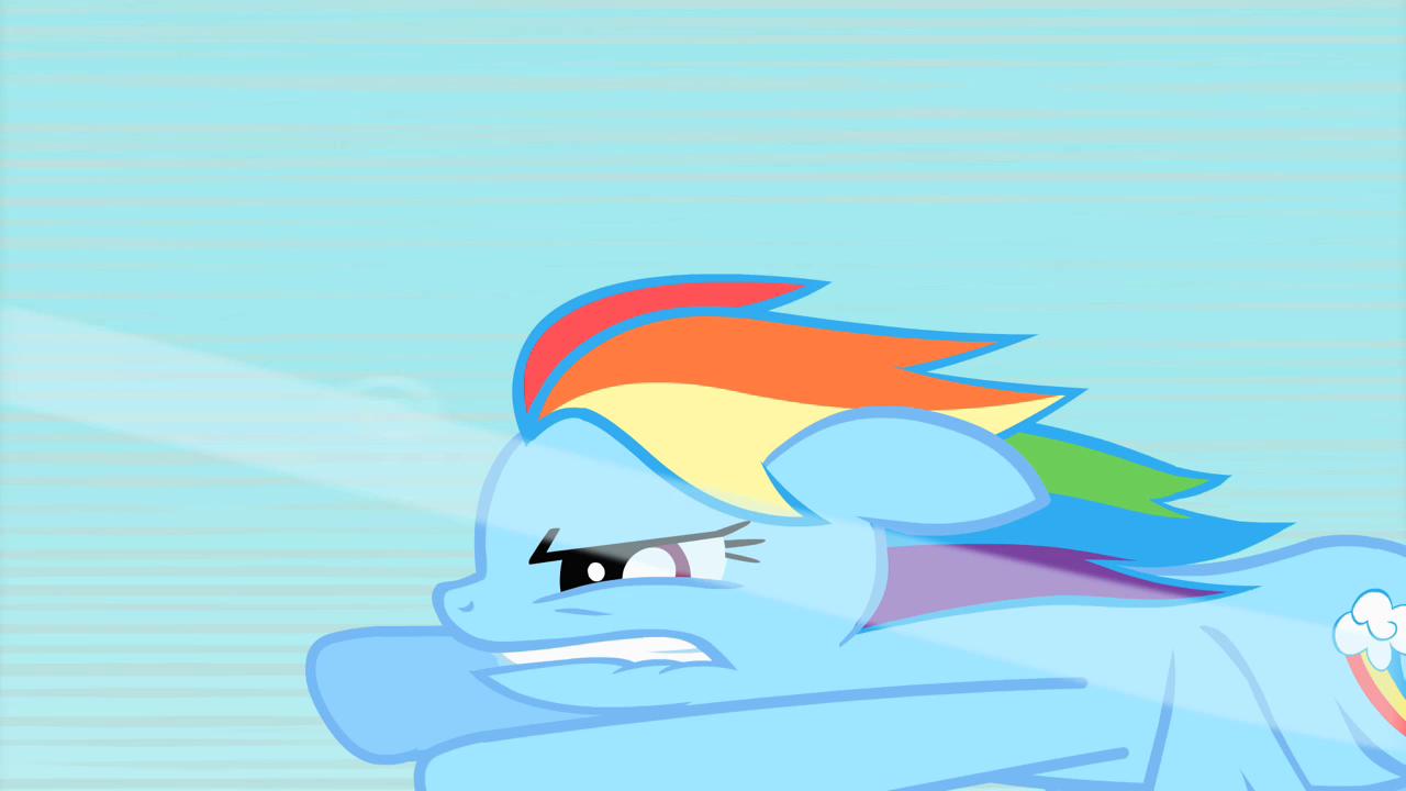 Rainbow dash flying fast