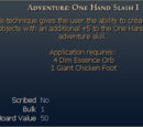 Adventure: One Hand Slash I