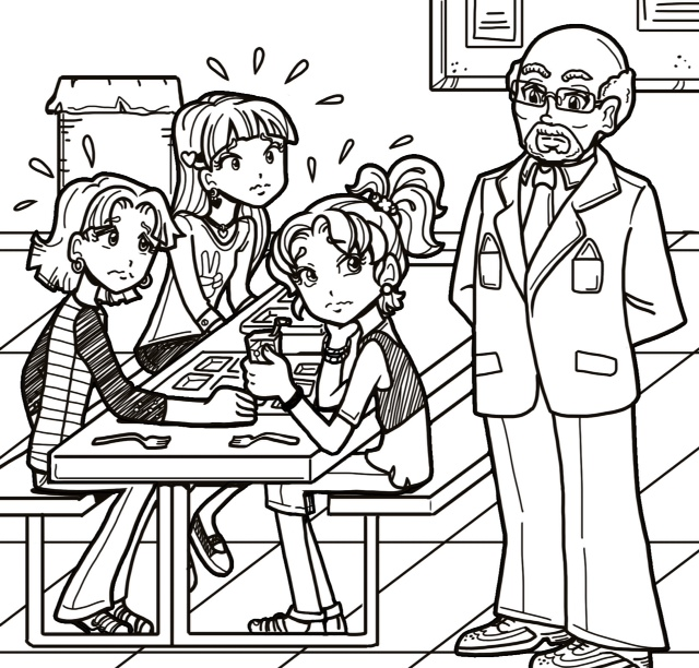 Principal Coloring Pages Chloe And Zoey Dork Diaries