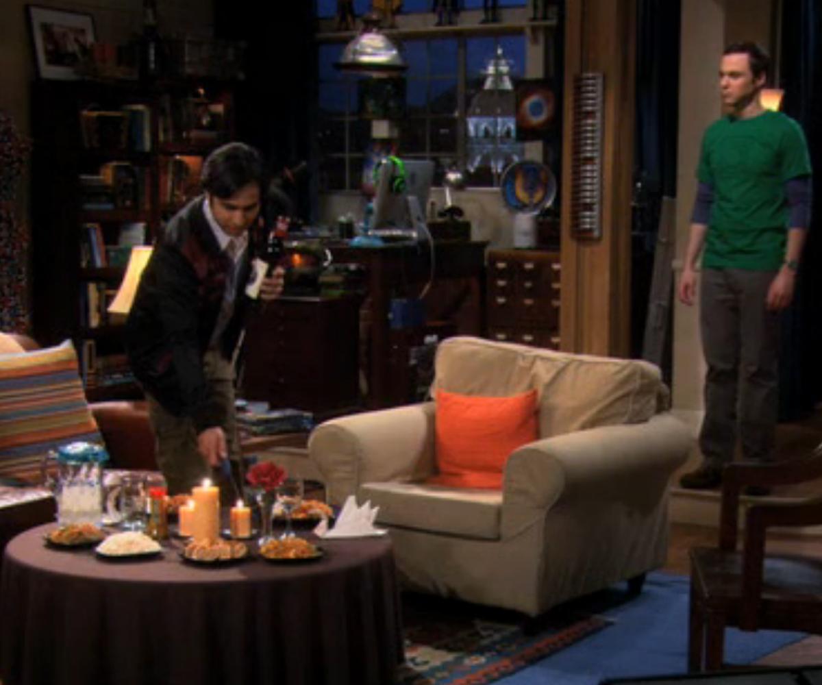 Priya Big Bang Theory Aarti Mann Raj prepares the dinner