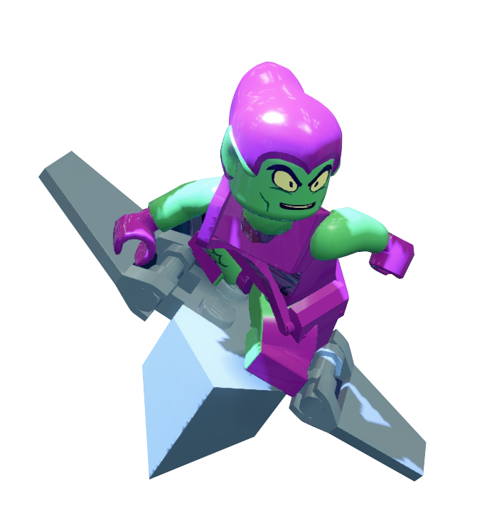 Green goblin in lego marvel super heroes