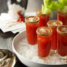 Oyster Shooter Bloody caesar oyster shooters