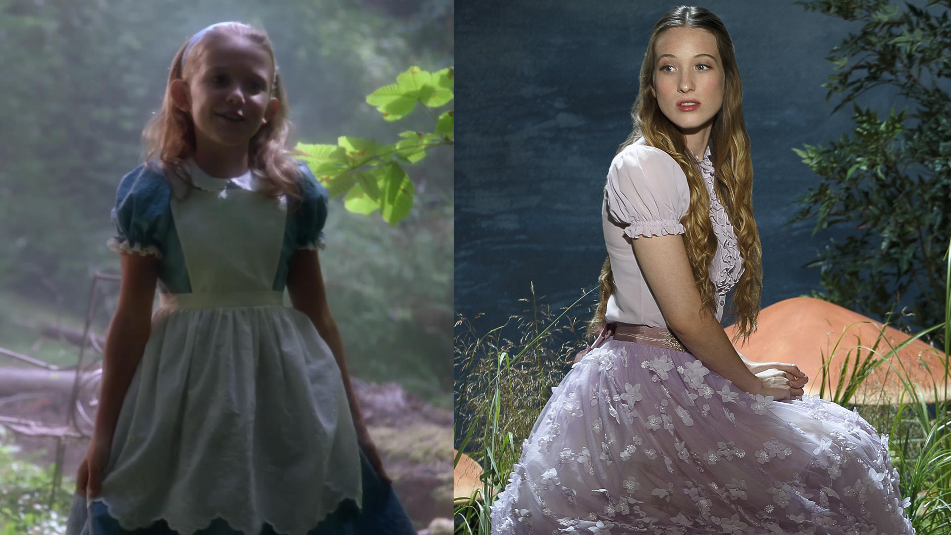 ... and Millie Brown as young Alice on Once Upon a Time in Wonderland