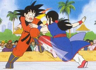 Image - Chichi vs goku.jpg - Love Interest Wiki