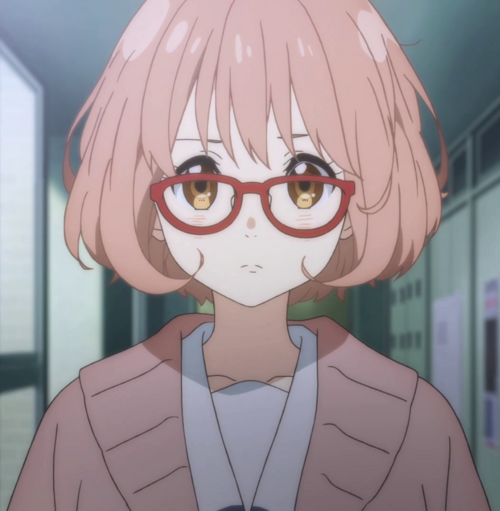 Blonde Hair Anime Wears Glasses