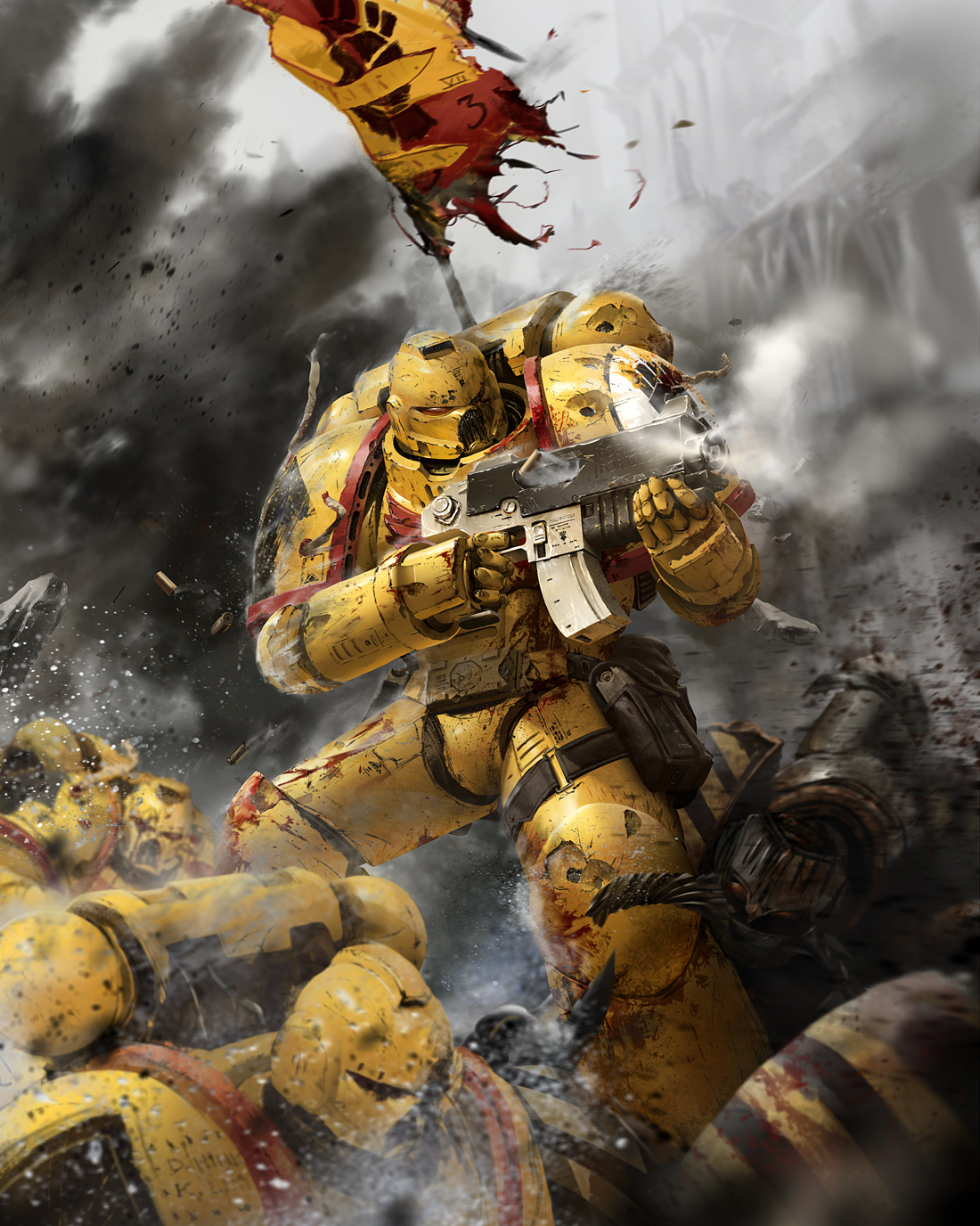 Imperial fists warhammer 40k wiki space marines chaos planets and more - Imperial fists 40k ...