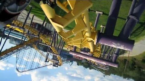 Batwing front seat on-ride HD POV Six Flags America