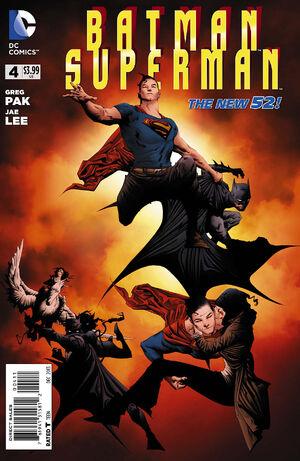 Cover for Batman/Superman #4 (2013)