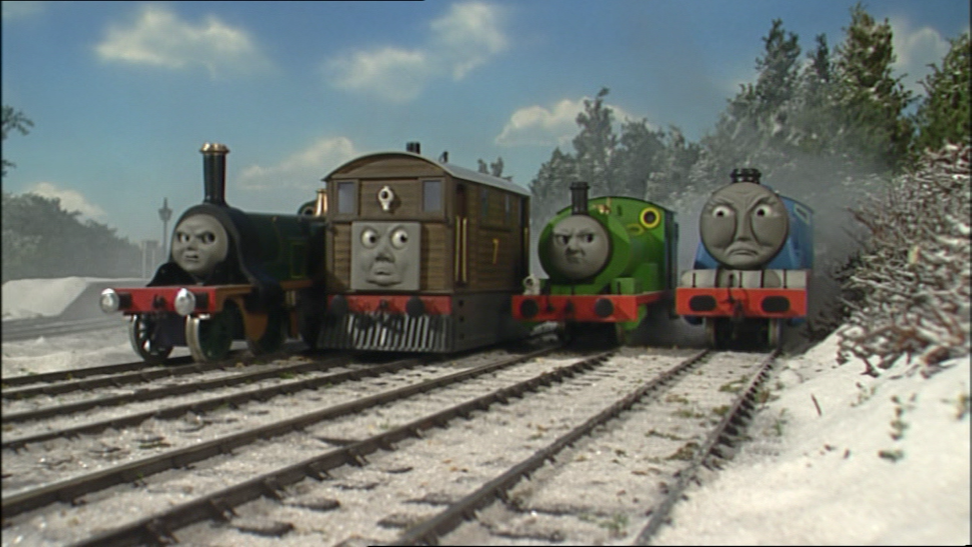 Image Thomasandthestatue64 Png Thomas The Tank Engine