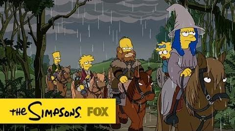 """""""The Hobbit"""" Couch Gag from """"4 Regrettings and A Funeral"""" THE SIMPSONS ANIMATION on FOX"""