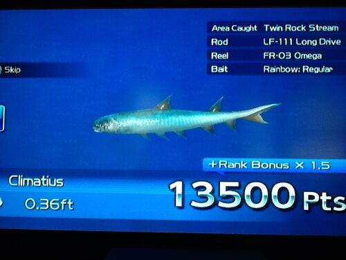 Climatius wii fishing resort wiki wikia for Fishing resort wii
