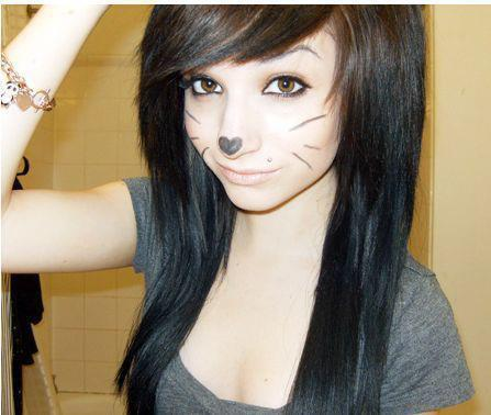 Image - Brown-eyes-brown-hair-cute-emo-girl-hair-Favim.com-419532 ...