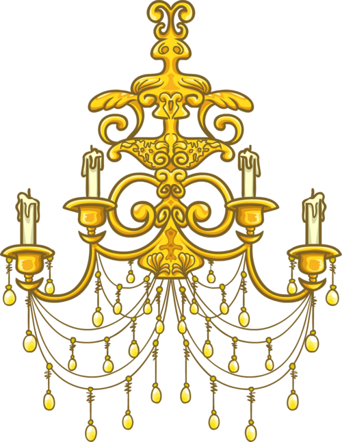 Gold Chandelier Clip Art Cliparts