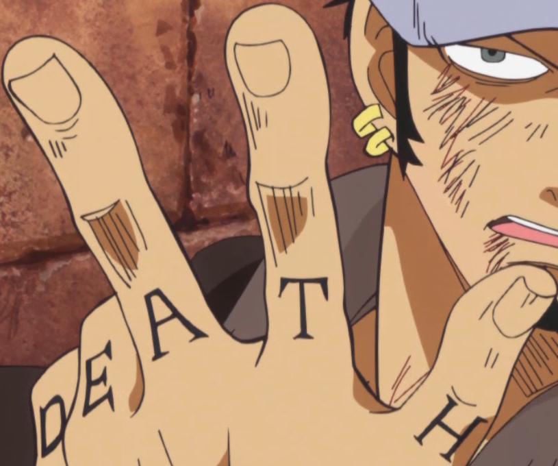 Trafalgar law 39 s tattoos anime for New tattoo laws
