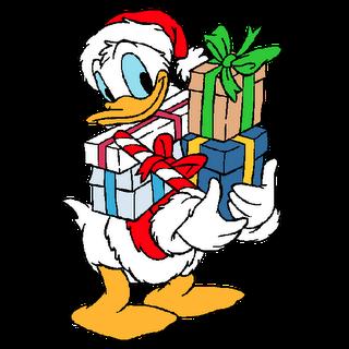 Donald Duck Christmas Clipart