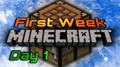 First Week of Minecraft Day 1