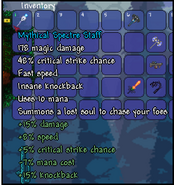Spectre staff with best armor buffs accessories