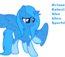 Princess Celestial Blue Glow Drop Sparkle