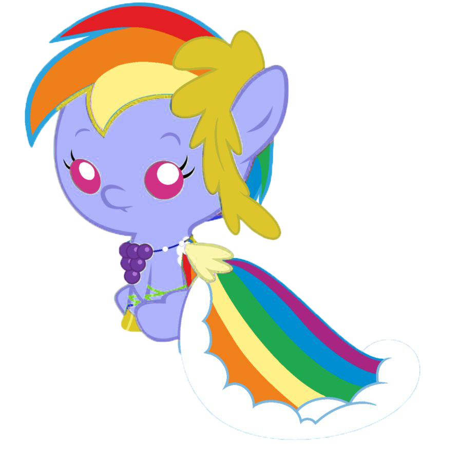 Imagen - Bebe rainbow dash.png - My Little Pony: La Magia ...