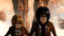 Mikasa and Armin followed by Titan Eren.png
