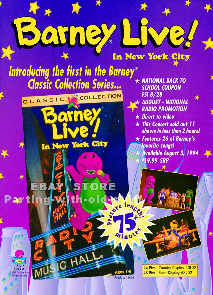 Barney Live In New York City Promo Ad By