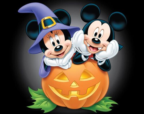 Fashion style Halloween Happy minnie mouse pictures for woman