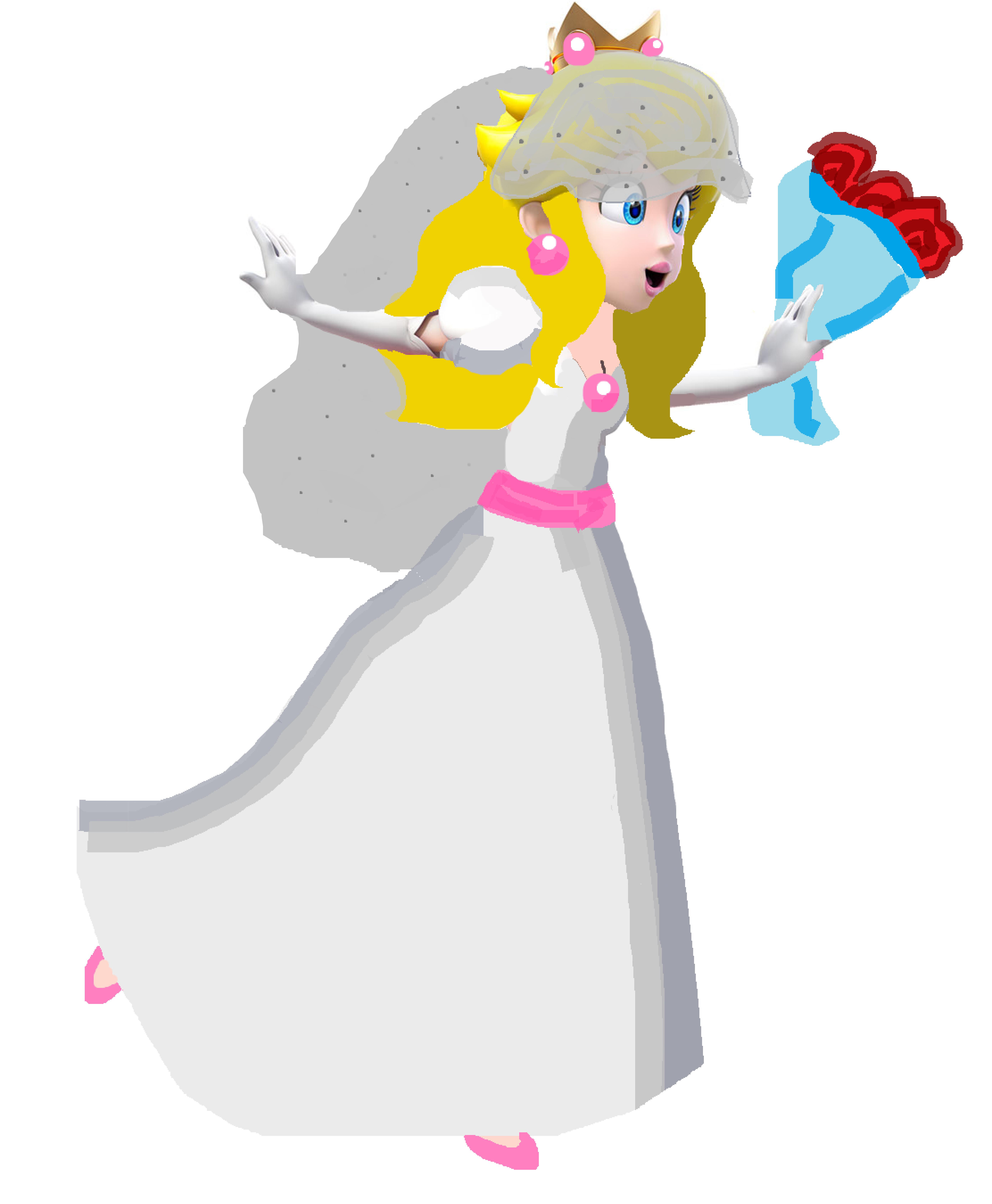 Princess peach wedding dress up discount wedding dresses for Princess peach wedding dress