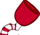 Garfio de Bastón de Caramelo