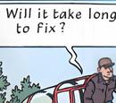 Unidentified unregistered plane