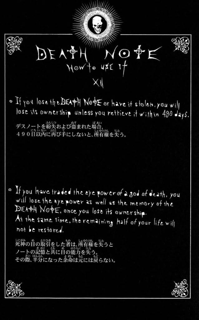 Death Note 9 Standard Edition Details